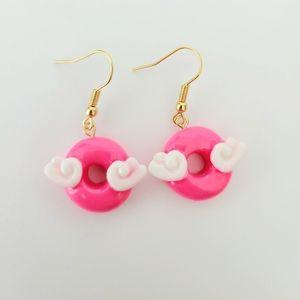 💟🆕️ 🍩 Handmade Acrylic Doughnuts Bright Pink